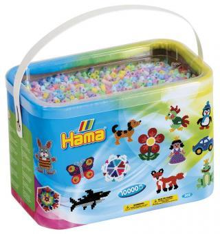 Cestello Hama Beads Midi 10000 Pezzi Mix Pastello 10 colori