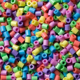 Barattolo Hama Beads Midi 3000 pezzi misto pastello