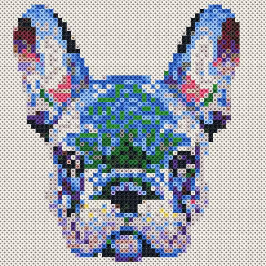 Schema Bulldog Francese con le perline Photo Pearls