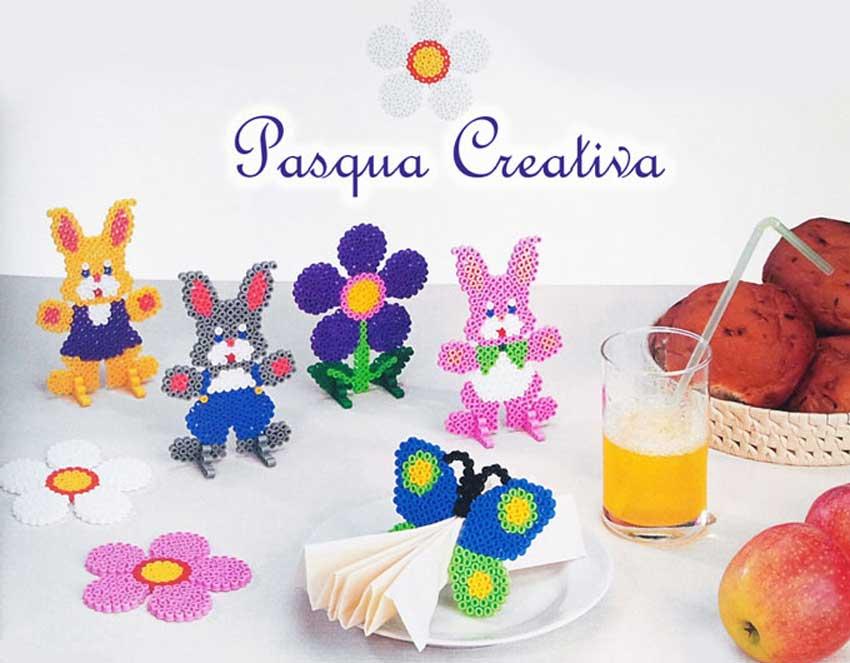I colori della Pasqua nelle creazioni in Pyssla