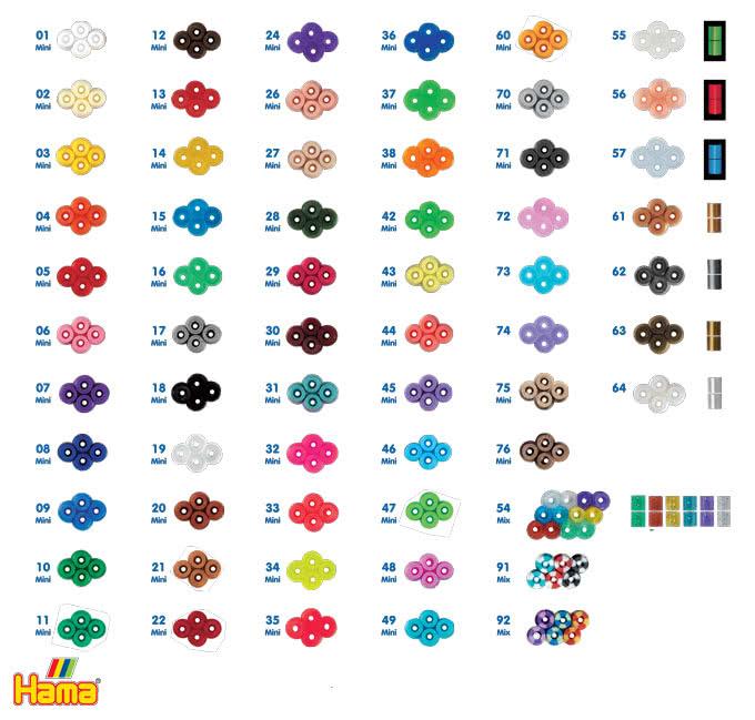 Tabella colori Hama Beads