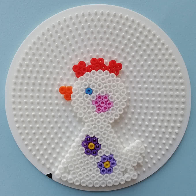 Schema gallina bianca 3d