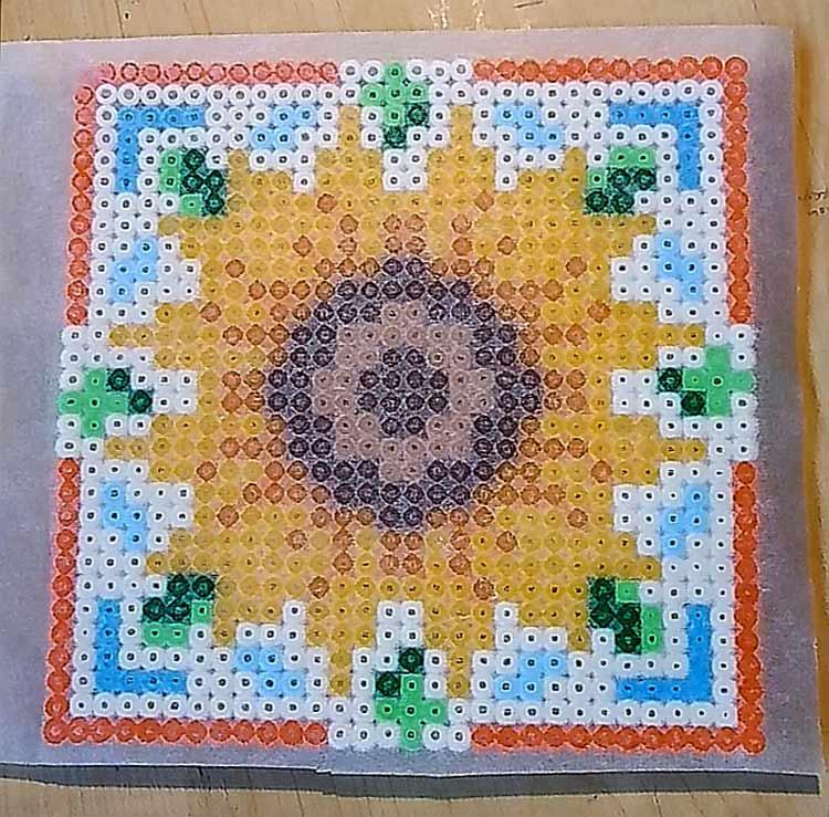 girasole hama beads