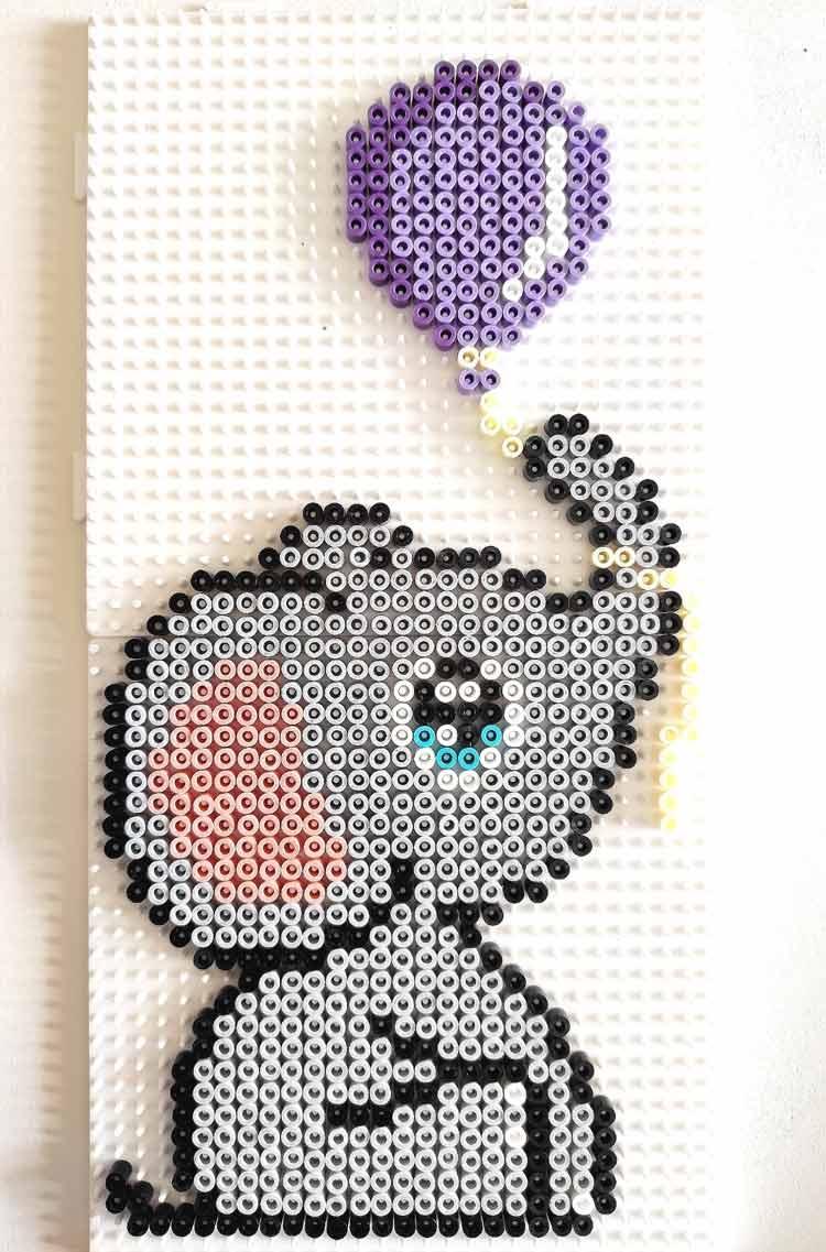 quadro nascita hama beads