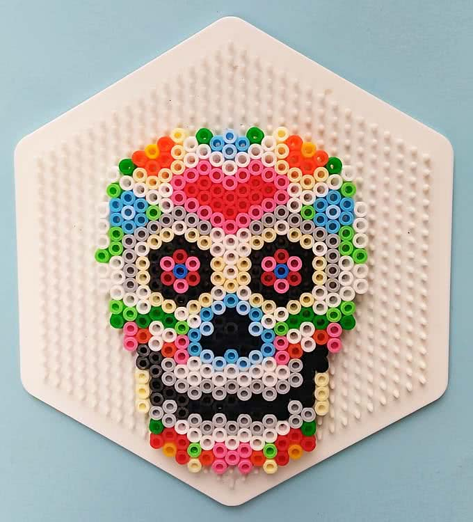schema teschio messicano